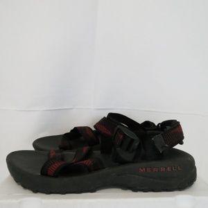 Merrell Men's 13 EU 44 Sport Sandals Red Black